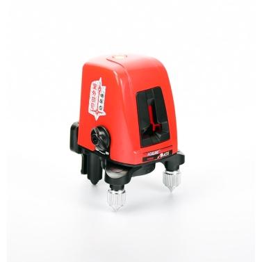 AK435 Mini Portable 360 Degree Self-leveling Cross Laser Line 2 Line 1 Dot Horizonatal Vertical Red Line Lazer Level