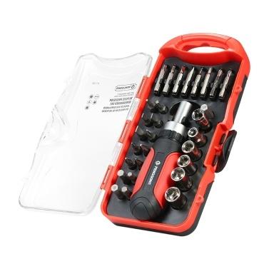 PENGGONG 30 STÜCKE mehrzweck Ratsche Schraubendreher Steckschlüssel mit Hex Torx Schlitz Phillips Bits Elektrische Arbeit Reparatur Werkzeuge Kit