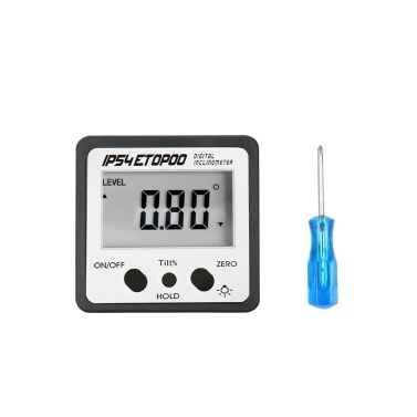 56% off Mini Digital Angle Gauge Electronic Backlight Protractor,limited offer $10.99