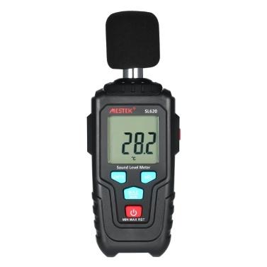 MESTEK Mini LCD Digital Noisemeter Medidor de Nível de Som 35-135dB Ruído Instrumento de Medição de Volume Decibel Monitoramento Tester com Máx / Min / Modo de Retenção de Dados