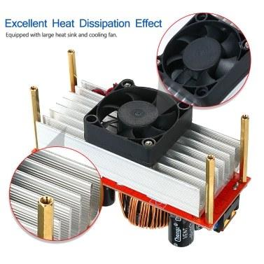 1500W Boost-DC / DC-Wandlerregler Aufwärtswandlerregler Konstantstrom- und Spannungsmodus mit temperaturgeregeltem Lüfter