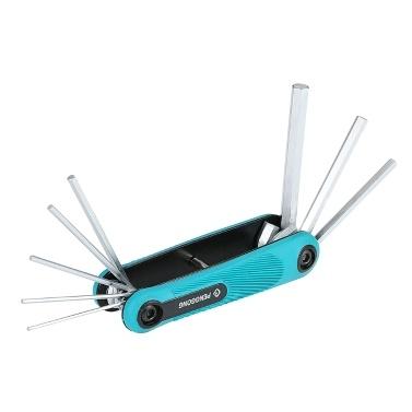 PENGGONG 8PCS Folding Hex Schraubendreher Schraubenschlüssel Multi-Size-Sechskant-Schraubendreher für Fahrrad-Gerät Repair Tool