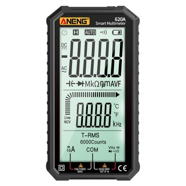 ANENG 4,7-Zoll-LCD-Display AC / DC-Digitalmultimeter Ultraportable True-RMS-Multimeter Auto-Ranging-Multitester mit Ampere Volt Ohm Kapazität Durchgang Temperatur Temperatur Diodentests NCV-Tester für Elektronik Automotive HVAC Tech