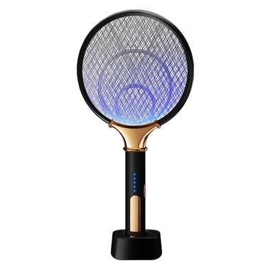 KKmoon wiederaufladbare Bug Zapper USB Photokatalysator Moskito Killer Fledermaus Haushalt Moskito Falle Swatter Hit Moskito Lampe wiederaufladbare 2-in-1 elektrische Moskito Swatter