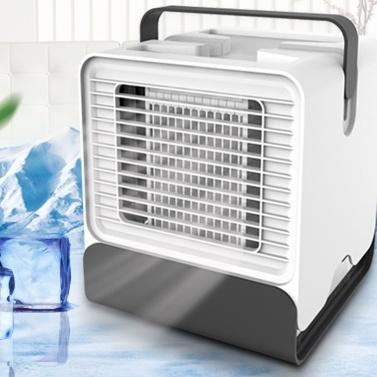 Homgeek Mini Tragbarer Klimaanlagenventilator Büro-Schlafsaal-Luftkühler mit LED-Leuchten