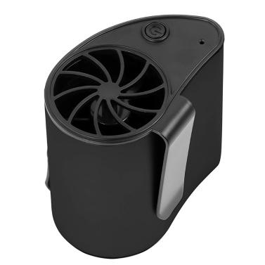Mini ventilador portátil de cintura Recargable Clip eléctrico con alimentación por USB En el ventilador de la cintura 3 velocidades Ventilador personal ajustable para trabajar al aire libre Senderismo Camping Negro
