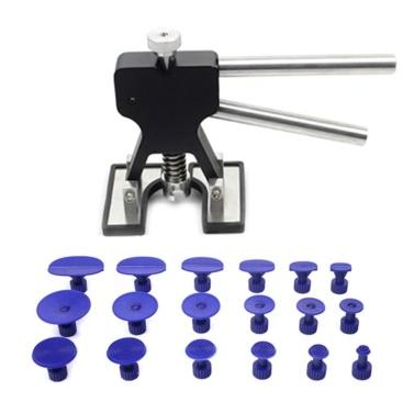 Paintless Dent Repair Tools Kit Einstellbarer Dent Lifter-Reparatur-Tool-Kit Mit diesem Kit wird ein Dent Puller-Kit für die Reparatur von Hagelschäden und die Entfernung von Autodellen in Schwarz geöffnet