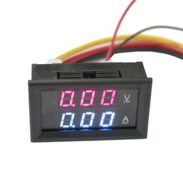 DC100V 300A 2 1 Digital Voltage Current Tester Meter Dual Display Voltmeter Ammeter Shunt