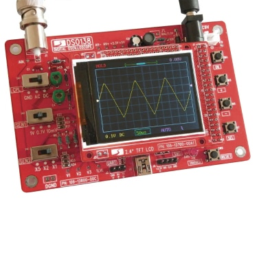 "DSO138 2.4"" TFT Handheld Pocket-size Digital Oscilloscope"