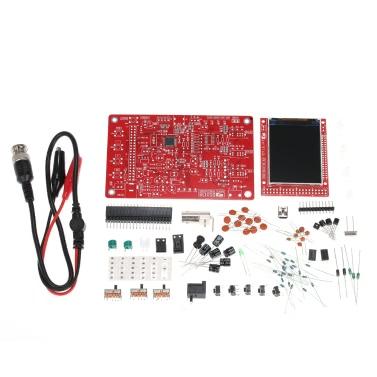 """DSO138 2,4"""" TFT portátil osciloscópio Digital de bolso Kit DIY peças 1Msps conjunto de aprendizado eletrônico"""