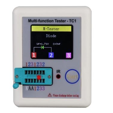 Affichage coloré Transistor testeur TFT multifonction rétro-éclairage Didoe Triode Capacitance résistance Inductance MOSFET NPN PNP Triac MOS automatique d