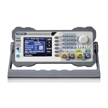 JUNTEK PSG9080 Dual Channel Programmable Function Arbitrary Wave Generator Signal Source Frequency Modulation Amplitude Modulation Voltage Control Frequency Meter 1nHz-80MHz