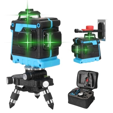 Multifunctional 12 Lines Laser Level Tool Vertical Horizontal Crosslight with Self-leveling Function
