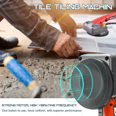 10-150Hz Tile Tiling Machine Wall Floor Tiles Laying Vibrating Tool with 100*100mm Suction Cup