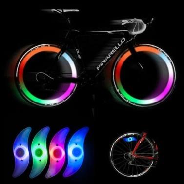カラフルな自転車自転車サイクリングスポークワイヤータイヤタイヤホイールLEDブライトライトランプ#