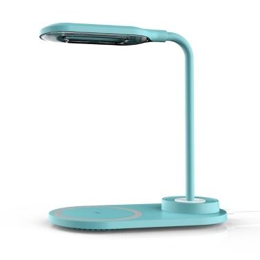 USB 2 em 1 Touchs Pequena luz noturna Celulares Telefones sem fio Carregamentos sem fio 10 W Carregamentos rápidos sem fio Abajur de mesa LED