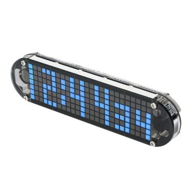 DS3231 Hohe Genauigkeit DIY Digital Dot Matrix LED Wecker Kit mit Transparentem Fall Temperatur Datum Zeitanzeige