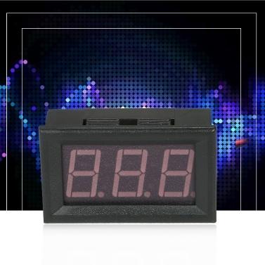 """DC4.5V-120V 0.56"""" LED Digital Voltmeter Voltage Tester Meter Panel Meter 2 Wire High Measuring Instrument Red"""