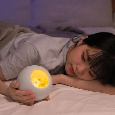 Mini Pet House Night Light Portable USB Dimming Table Lamp Kids Baby Bedroom Decoration Light