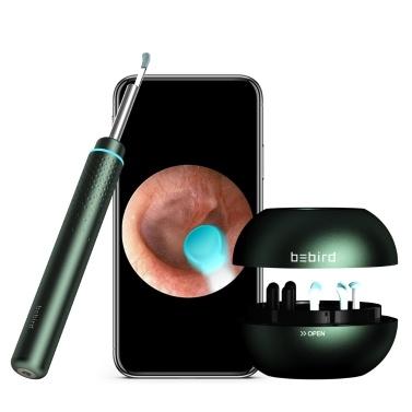 Bebird M9 Pro Intelligentes hochauflösendes visuelles Ohr-Endoskop-Ohrlöffel 2.0MP Hochgenaues In-Ear-Ohrstöpsel-Ohrenreinigungswerkzeug mit magnetisch geladener Basis