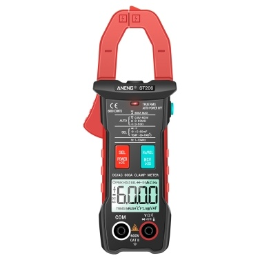ANENG Digital Clamp Meter AC/DC Current Clamp True-RMS Multimeter Auto-Ranging Multi Tester with Amp Volt Ohm Inrush Current Resistance Capacitance Continuity Diode Temperature Frequency NCV Tests for Automotive Electronic HVAC Tech