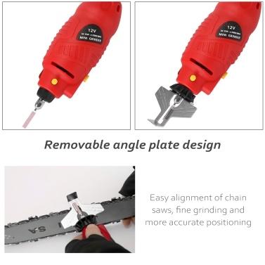 12 V Handheld Mini Electric Grinding Tool Chainsaw Chains Grinder Electric Mill Die Grinder Utility Grinding Tool