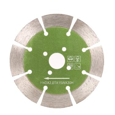 114 * 2,0 * 20mm Trockenbearbeitung segmentierte Diamantsägeblatt mit Kühlbohrungen 20 mm Innendurchmesser Marmor Granit-Fliese Einschneiden Für Winkelschleifer Architectural Engineering Architekt