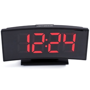 Multifunctional Large Screen Digital Display Electronic Table Clock Mute LED Mirror Alarm Clock Date Function Temperature Function