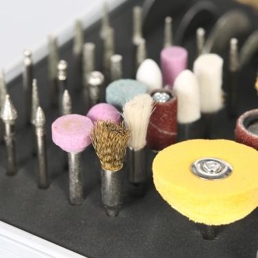 Multifunktionale Mini-Elektroschleifer mit variabler Drehzahl Rotary Tool und Zubehör Kit Bohrmaschine Schleifen Fräsen Gravur Polierwerkzeuge AC100-240V EU-Stecker