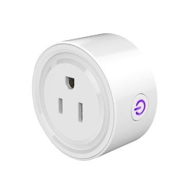 Tuya Wifi Intelligent Socket Remote Control WiFi Plug Wireless Remote Voice Control Timer Smartplug Compatible with Amazon Alexa Google Assistant