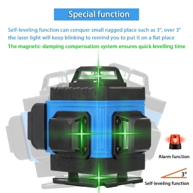 Multifunctional 16 Lines Level Tool Vertical Horizontal Crossline APP Remote Control with Self-leveling Function
