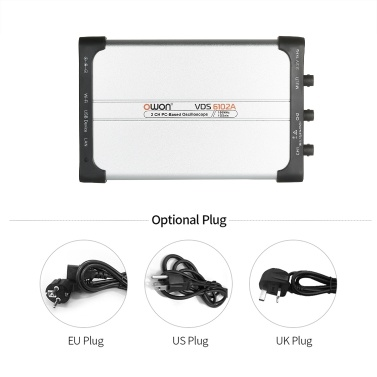 Owon VDS6102A USB PC Virtual Oscilloscope 2 Channel 100 MHz 1Gsa/s 14bits Portable ADC Type-C Digital USB Oscilloscopes PC Scopemeter
