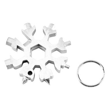 18 in 1 Multi-purpose Screwdriver Tool Snowflake Shaped Stainless Steel