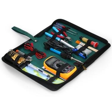60 Watt Elektrische Lötkolben Kit Einstellbare Temperatur Schweißen Digital Multimeter Handmade Tool Set Löt Kit