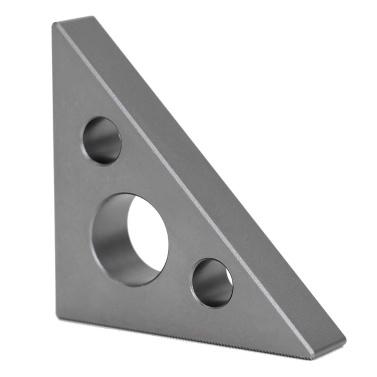 Mini Aluminiumlegierung 45 Grad 90 Grad Rechtwinklig Manometer Multifunktionale Zoll Metric Winkel Meter Dreieck Lineal Holzbearbeitung Messwerkzeug