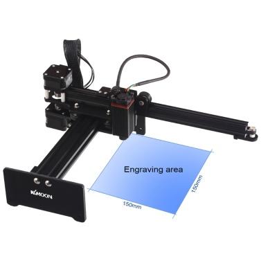 KKmoon 7000mw Desktop-Laserengraver Tragbare Graviermaschine Mini Carver DIY Laser-Logo-Markierungsdrucker für Metallgravur und Tiefholzgravur und -schneiden