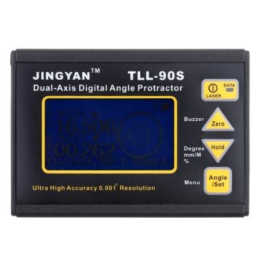 TLL-90S Medidor de ângulo de alta precisão 0,005 Compressor de ângulo de inclinação de nível de laser digital de dois eixos profissional