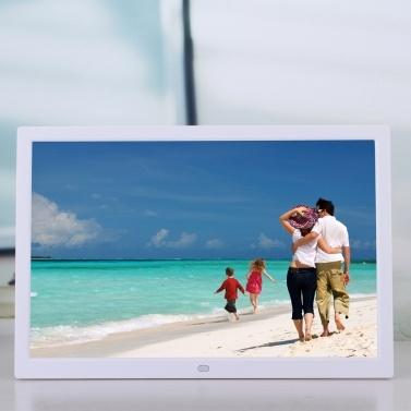 15 Zoll LCD High Definition 1280 * 800 Voll funktionsfähiger digitaler Fotorahmen Elektronisches Album Bild Musikvideo