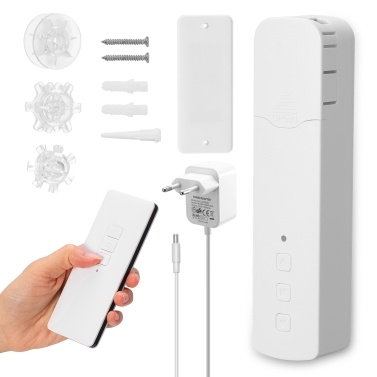 Tuya ZigBee M515EGZT Intelligent Pull Bead Curtain Motor Remote Control Intelligent Home Household Life Hotel Electric Curtain Motors  Mobile APP Control Voice Control Quiet Compatible Alexa Google Home Need Connect G-ateway