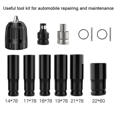 18V Cordless Impact Wrench Screw Driver Brushless Motor High Torque Electric Wrench with 13pcs 1/2 Impact Wrench Hexs Socket Bit Set