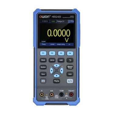 OWON HDS242S 2-CH-Handoszilloskop-Multimeter-Wellenformgenerator 3-in-1-Multifunktionstester 40 MHz Bandbreite 20.000 Zählungen Multiumeter OSC + DMM + Wellenformgenerator