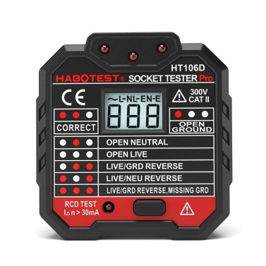 HABOTESE Advanced RCD Electric Socket Tester