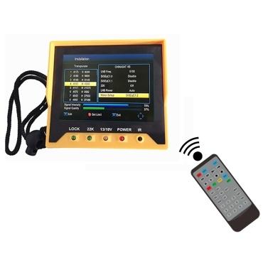 KPT-356H 3.5 Inch Handheld Multifunctional DVB-S/S2 Satellite Finder Fast Tracking Full HD Digital Satellite TV Receiver Finder Meter MPEG4 Modulator Remote Control