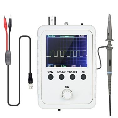 """KKmoon Kit de osciloscópio digital TFT de 2,4 """"com adaptador de força e sonda de cabo BNC-Clip DS0150 (máquina acabada montada)"""