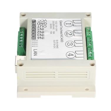 4-Kanal-Fernbedienungsrelaismodul Netzwerkcontroller mit dem Modus UDP TCP Client / Host für die Heimautomation