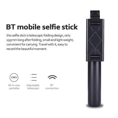 Drahtlose faltbare BT-Handy-Fernbedienung Selfie-Stick Integrierte Teleskop-Handyhalterung mit Stativ
