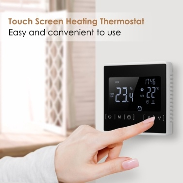 Multifunctional LCD Touched Screen Intelligent Thermostat Electric Floor Heating Thermostat Home Temperature Controller