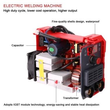 20-225A MMA-225 Electric Welding Machine Household Mini Inverter Portable 220V IGBT Digital Small Industrial Welding Machine