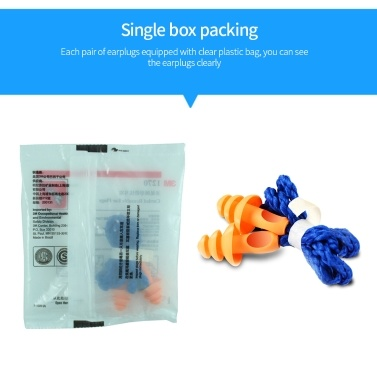 Soundproof Earplug Noise Reduction Silicone Waterproof Ear Plugs Christmas Tree-Shape Reusable Cord Earplugs for Sleeping Learning Swimming and Travel
