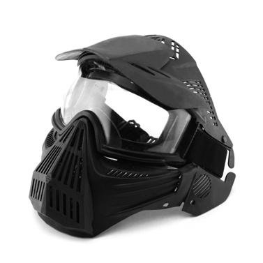 Taktische Vollgesichtsmaske Außenschutzmaske Anti-Fog Radfahren Brille Jagd Military Gläser für CS Feld Airsoft Paintball